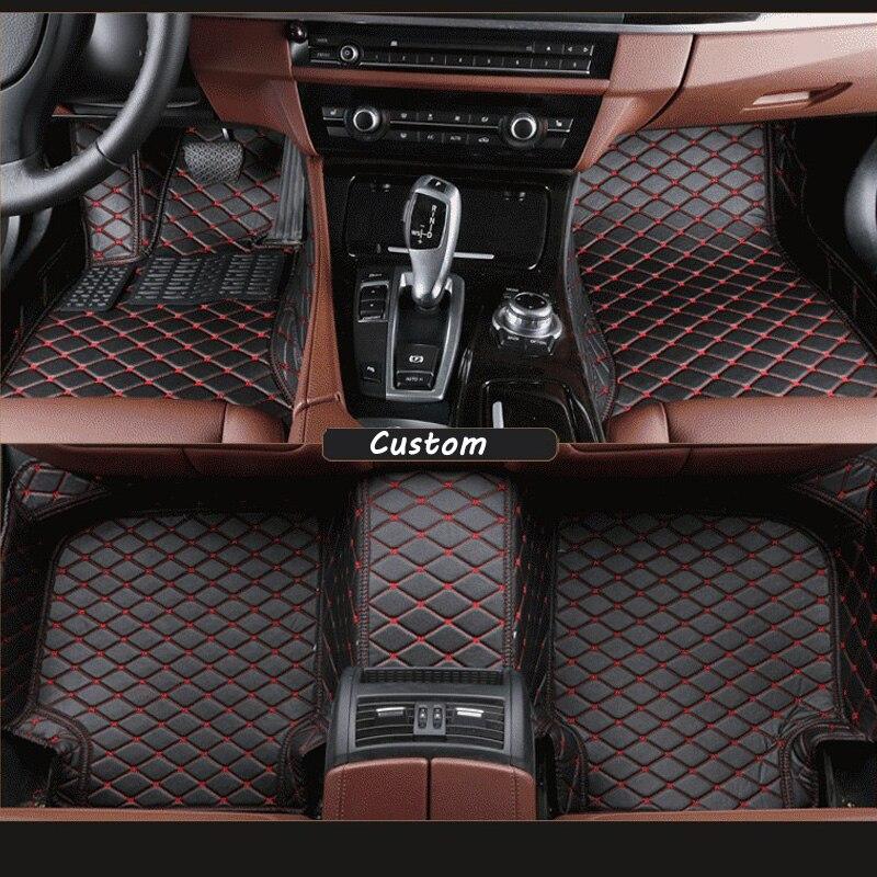 Автомобильные коврики для Ford Explorer 7 мест, искусственная кожа автомобильный коврик черные, бежевые серый коричневый