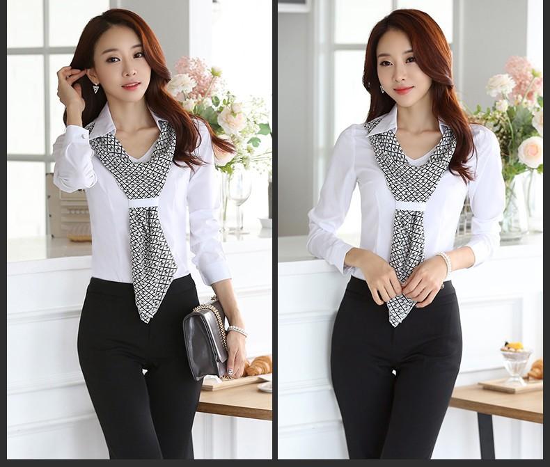 HTB16IiXJpXXXXcfXVXXq6xXFXXXa - Women's shirt slim formal scarf collar long-sleeve blouses