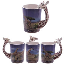 300ML Animal Mug 3D Cute Cartoon Painted Ceramic Cup Milk Coffee Cup Personality Water Cup(China)