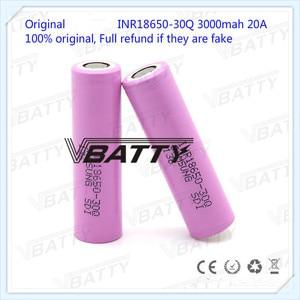Image 4 - オリジナル 18650 バッテリー仕様 3000 mah 18650 30Q 3.7 v リチウムイオン充電式バッテリー (1 pc)