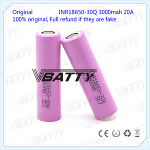 Image 4 - Original for Samsung 18650 Battery Specifications 3000mah 18650 30Q 3.7v Lithium ion Rechargeable Battery(1pc)