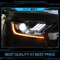 AKD tuning cars Headlight For Ford Ranger Everest Endeavour Headlights Mustang LED DRL Running lights Bi Xenon Beam Fog lights