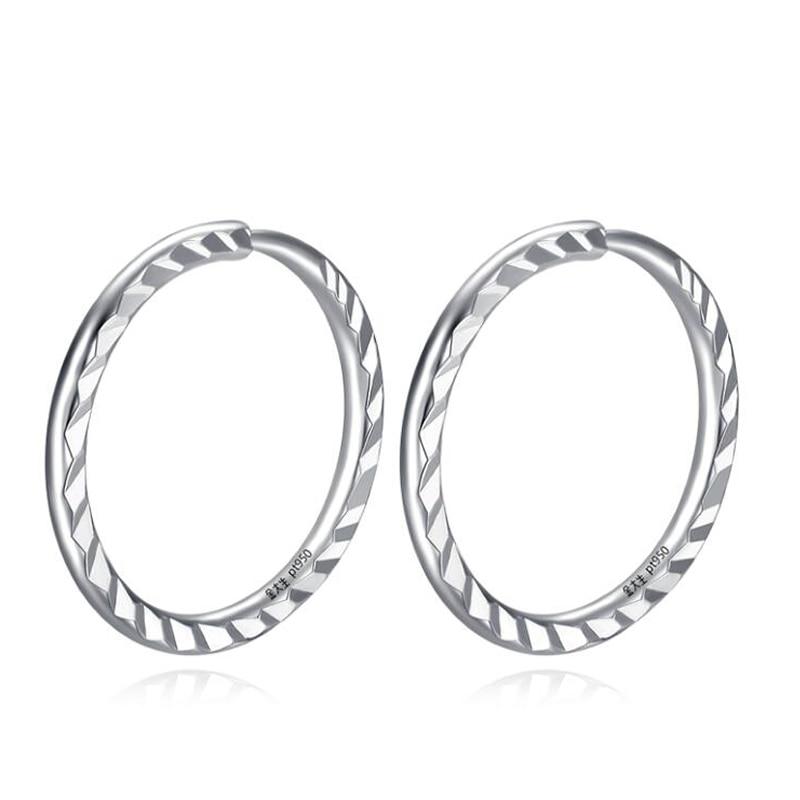Pure Gold Hoop Earrings Women Carved 9mm Hoop Earrings 0.98g bird hoop drop earrings