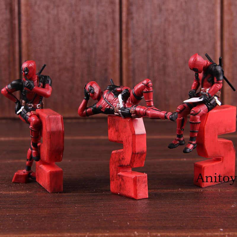 Figuras de Ação maravilha Deadpool Deadpool 2 Engraçado Modelagem PVC Brinquedos Do Carro Decoração da Casa de Bonecas