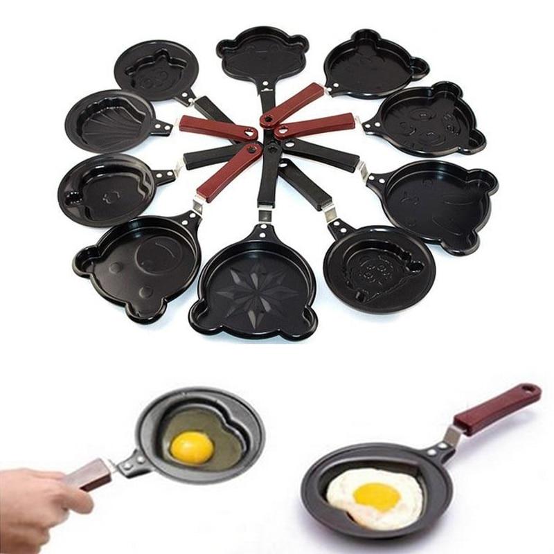 Nordic Home Kitchen Breakfast Omelette Pans Pancake Egg Fryer Skillet Mini Frying Pan Cookware Non-Stick So Cute Fryer Egg Pan