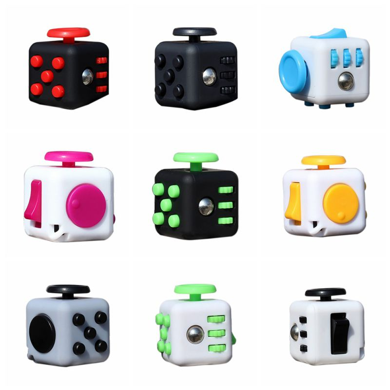 New Style Squeeze Fun Stress Reliever Fidget Cube Relieves Anxiety and Stress Toys Cube 11 Style
