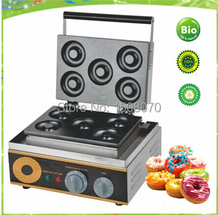 Free Shipping CE 73mm Donut Baker, 5 pieces Donut Making Machine,Mini Donut Maker Machine donut making frying machine with electric motor free shipping to us canada europe