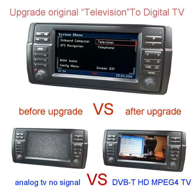 DVB-T TV  For BMW E38 E39 E46 X5 E53 X3 E83,Z4 E85