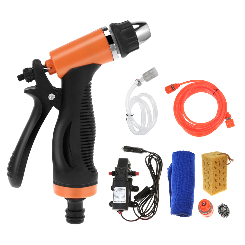 High Pressure Cleaning Pump Car Washing Machine Cigarette Lighter Vehicular Wash Device Hand Tool Sets With 8m Outlet Water Pipe 480l h portable wash device car washing machine cleaning pump household high pressure car wash pump
