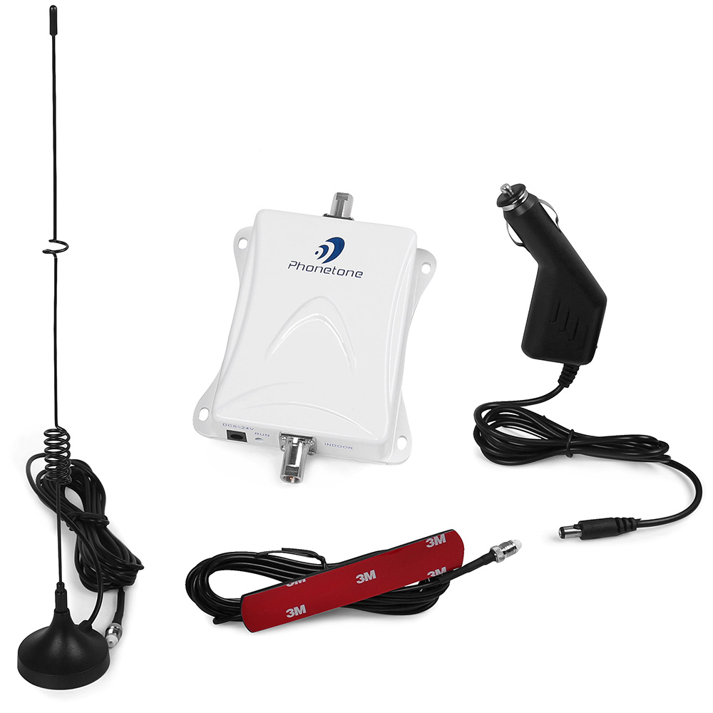 55db 3G GSM 850MHz Repeater car cell phone boosters mobile amplifier kit with Antennas
