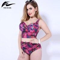 High Waist Bikini 2016 Women Plus Size Swimwear New Bikinis Women Swimsuit Biquini Brazilian Bikini Set