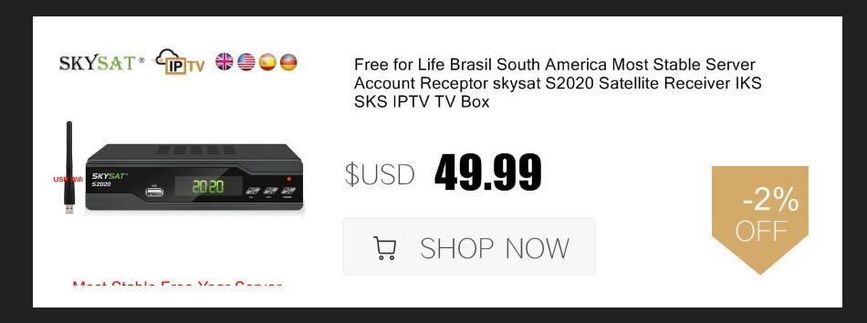 Купить Аудио и видео | Brazil Portugal Receptor DVB-S2 Mpeg4