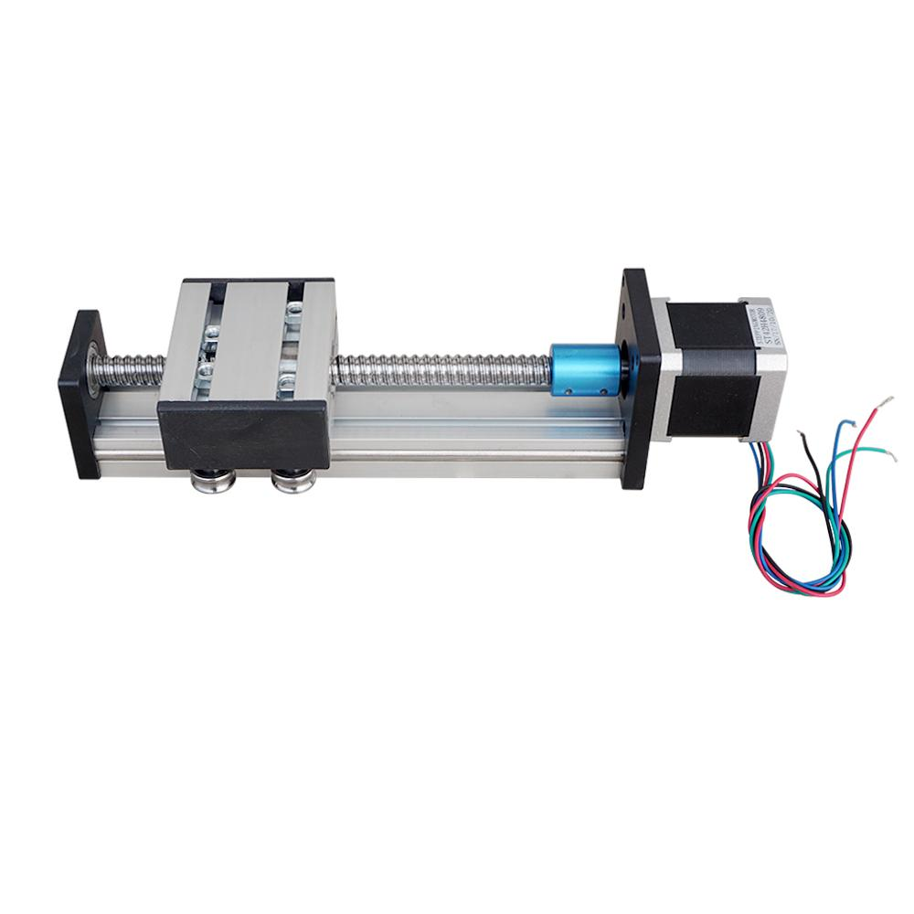 Ball Screw Linear CNC Slide Stroke 100mm-300mm Long Stage Actuator Stepper Motor belt driven linear slide long travel distance guideway linear actuator