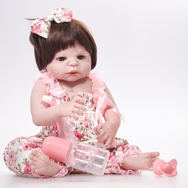 все цены на Dolls Baby Born Full Silicone Reborn Dolls Baby Realistic Doll Reborn Kids Toys Brinquedos SF5524 Baby Toys Gifts Dolls for Girl онлайн