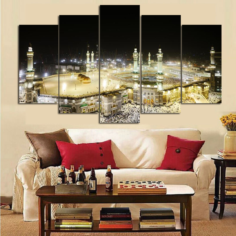 Məkkə müqəddəs yağlı boya dini - Ev dekoru - Fotoqrafiya 2