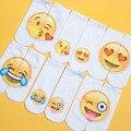Восемь стилей 3D Emoji Носки Мода Одной Стороне Печати Хлопчатобумажные Носки Унисекс Носки Шаблон Meias Feminina Низкие Носки