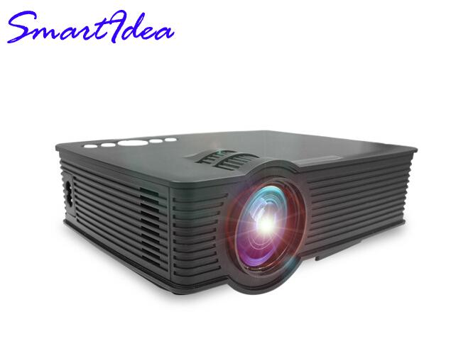 Prix pour Haute Qualité Portable Mini HD LED Projecteur 1800 Lumens Soutien ROUGE/BLEU 3D Film Projecteur Multimédia de La Maison Usine Directe vente