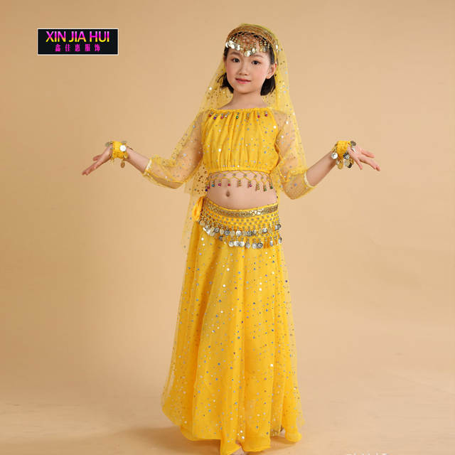 4ab3e44bd Online Shop Quality Dance Clothes Indian Sari Girls Dress Orientale ...