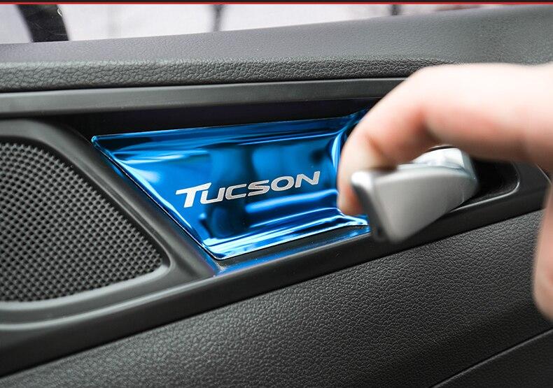 Edelstahl Material Innentürgriff Darm Schutzhülle Für Hyundai Tucson 2015  2016 2017 2018 Zubehör