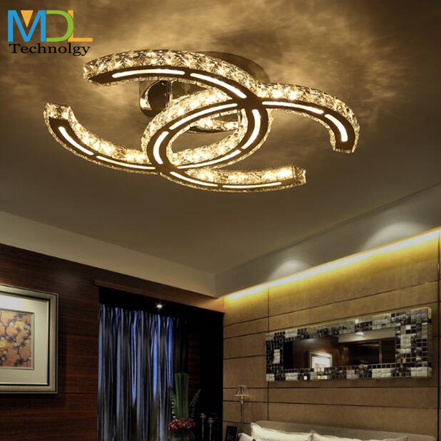 15W 18W 35W 48W LED Crystal Chandeliers Ceiling mounted Lighting Modern K9 Pendant light Fixtures For Living room Dining room