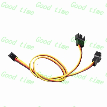 Gdstime 100 pcs 30cm Extension Cable Y-Spliter adpter 3Pin Female Connector to 2 x 3Pin / 2Pin Cooling fan Cable 11.81ft
