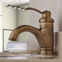 Centerset Single Handle Antique Brass Bathroom Vanity Sink Lavatory Faucet