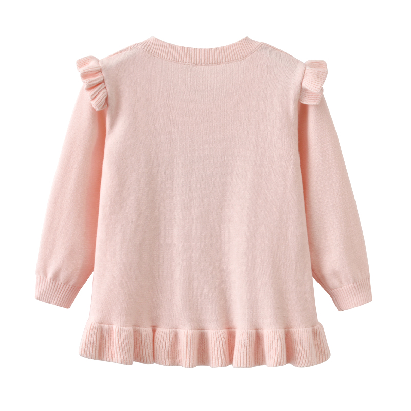 Auro Mesa Kids Girls Black Clouds Rains Pullover Sweater Long Sleeve Crew Neckline Cotton Sparkle Ruffle Pink Sweater 6M 3Y in Sweaters from Mother Kids