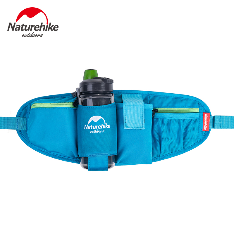 Naturehike Men Women Running Bags Nylon Waist Bag Multifunctional Ultralight Outdoor Travel Cycling Sports Bag NH15E001-B