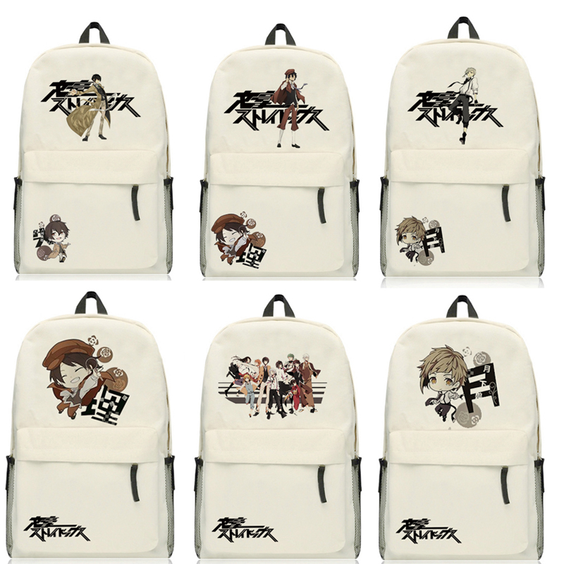 Anime Bungo Stray Dogs Osamu Dazai Backpack Cartoon Bags Oxford Student School Bag Unisex цена 2017