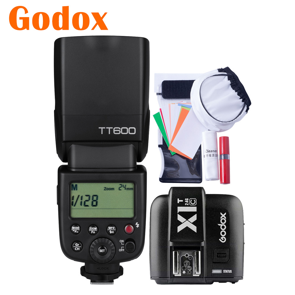 Godox Thinklite TT600 2 4G Wireless X1T C Transmitter Speedlite Camera Flash for Canon EOS 5D
