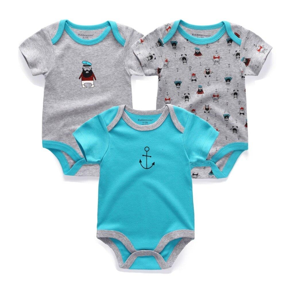 3PCS-Kiddiezoom-Brand-Baby-Bodysuits-Cotton-Baby-Girls-Boy-Clothing-Short-Sleeves-O-Neck-Newborn-Baby-Clothes-2