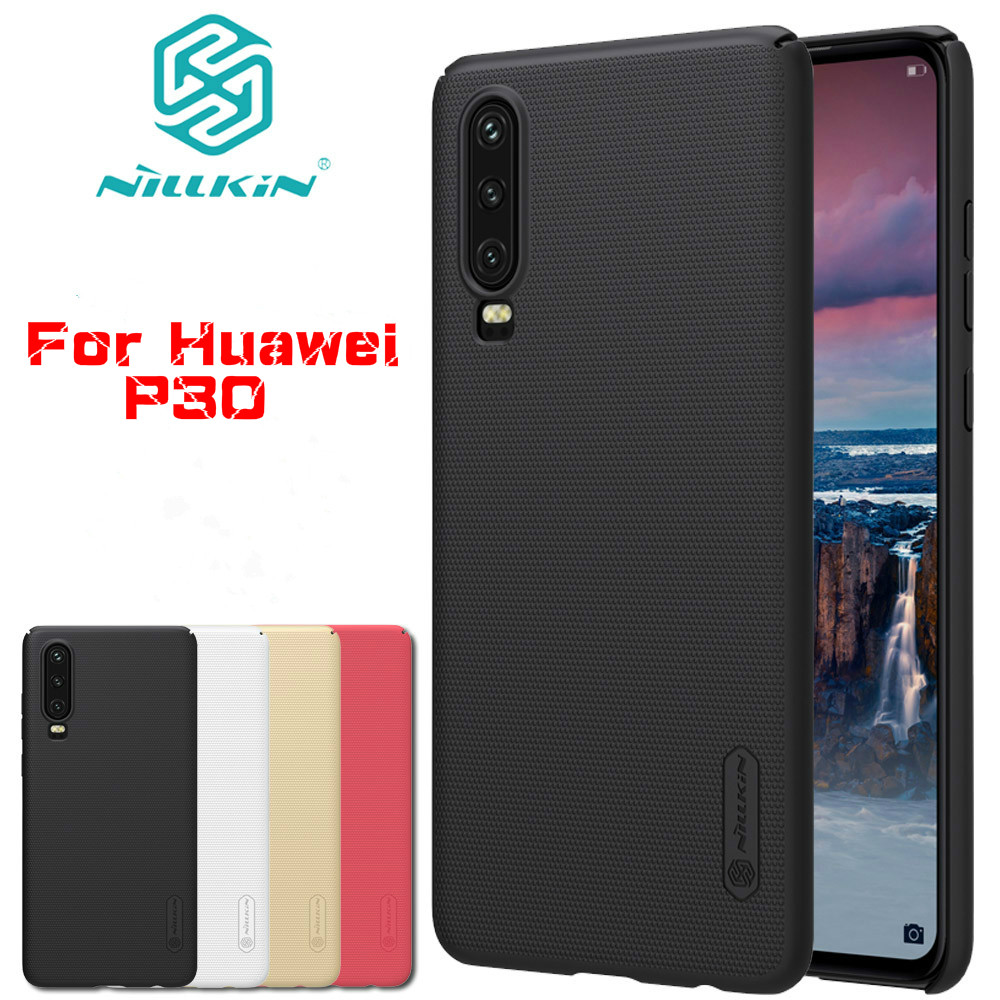 Nilkin for Huawei P30 6.1'' Case Huawei P 30 Cover Frosted Matte Hard PC Plastic Business Phone Back Cases for Huawei P30 Capa