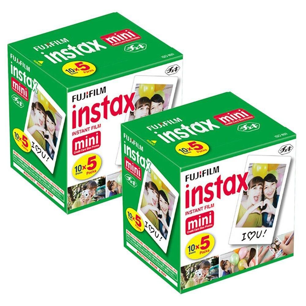 100 Feuilles Fuji Fujifilm Instax Mini Film Blanc Bord Papiers Photo Pour Instax Mini 9 8 7 s 70 90 25 partager SP-1 SP-2 Appareil Photo Instantané