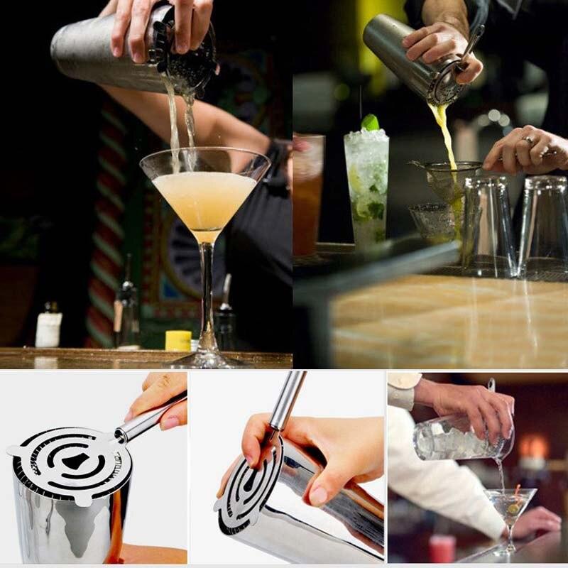 Heißer Professionelle Cocktail Sieb Edelstahl Eis Trinken Siebe Filter Für Bar Pub Haushalt Cocktails Shaker Werkzeuge Dc28 Modischer (In) Stil;