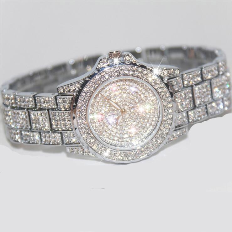 2016 Llegada Famosa Marca Bling Reloj de Lujo de Las Mujeres - Relojes para mujeres