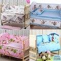 5 Pcs berço cama conjunto miúdos cama definir 100x60 cm bebê recém-nascido jogo de cama berço bumper berço set bebê bumper cama Livre grátis