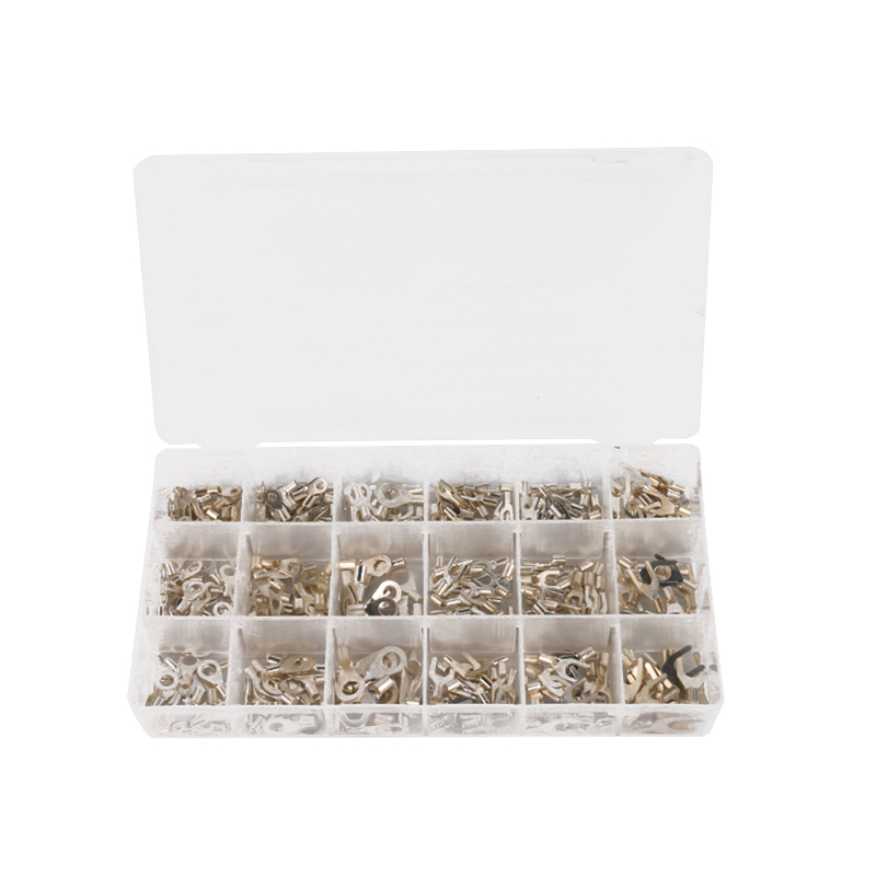 420Pcs/Box 18 type Cold naked terminal Non-Insulated Ring Fork U-type Terminals Assortment Kit Cable Crimp Spade Connector 280pcs box 18 in 1 insulated terminals spade ring fork u type electrical crimp connector tube wire connector assortment kit
