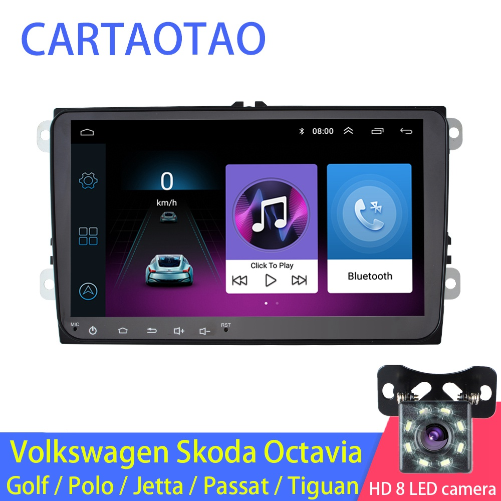 "9 ""2din Android 8.1 GO автомобильный радиоприемник GPS навигатор для Volkswagen Skoda Octavia Golf 5 6 Турана Passat B6 Jetta Поло Tiguan стерео WIFI-in Мультимедиаплеер для авто from Автомобили и мотоциклы on AliExpress - 11.11_Double 11_Singles' Day"