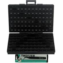 AideTek ESD bezpieczne SMD pojemniki do przechowywania IC pojemniki antystatyczne SMT Organizer tranzystor elektronika pudełka do przechowywania i organizery BOXALLAS tanie tanio Z tworzywa sztucznego 24*15*5