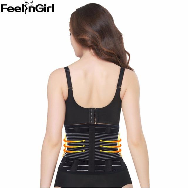 Feelingirl emagrecimento respirável trainer cintura cintura tummy cinturão belt body shapers cintura cincher underbust corset fat burner-c