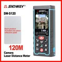 Medidor de distancia láser SNDWAY, cámara Digital, cinta de Telémetro Láser, herramienta de ángulo, telémetro láser