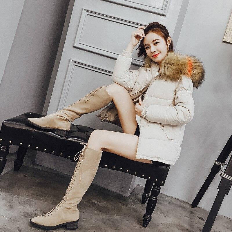 Mujer D'hiver Invierno Pleine marron Noir Solide Poches Doudoune Manches Mode Courtes À Parkas Lâche blanc Capuche Vestes 2018 Femme q1waTAO6I
