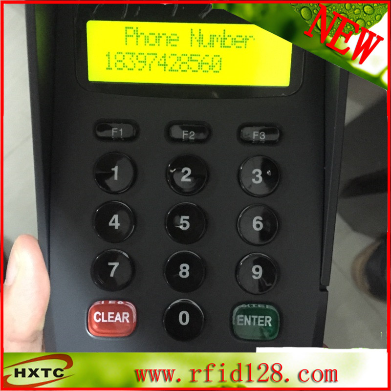 LCD display numeric keypad/ pinpad support put Phone number contact card reader with pinpad numeric keypad for financial sector counters