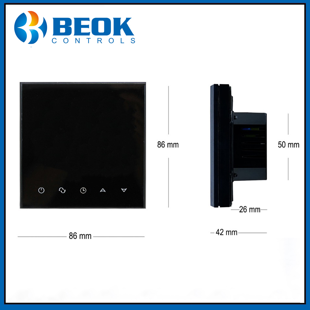Beok TGT70WIFI-WP Wifi Touch Screen Thermostat 3A Water Floor Heating Digital Thermoregulator