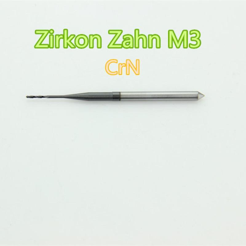 5 PCS lot Dental Zirconia Tungsten Carbide Milling Bur Machine Zirkon Zahn M3 System 0 5