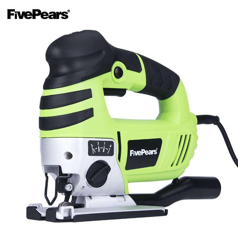 FIVEPEARS Electric Jig Saw Curve Saw 750W 220V Electric Cutting Machine Woodworking Tools Chainsaw With EU plug цена