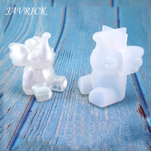 Crafts DIY Mold Q Edition Little Elephant Toys Table Decoration Jewelry Silicone Molds