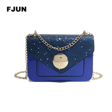 FJUN Gradient Rainbow Shiny Women Handbag Paillette Bling Bling Female  Glitter Sequined Messenger Bag Popular Lady 17cbc6b42c5d