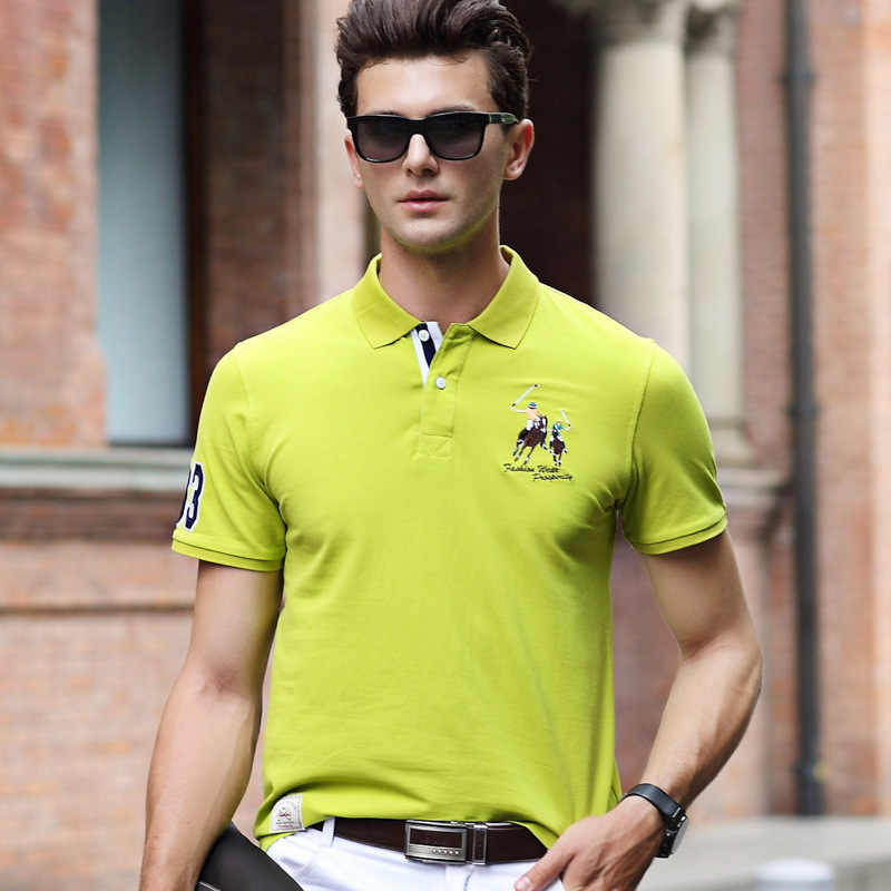 ファッション夏半袖固体ポロシャツ男性綿カジュアルポロシャツ通気性の刺繍シャツメンズ ClothingYP9099