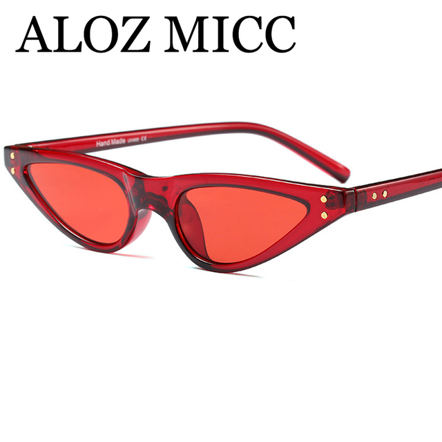 NEW 2018 Fashion Cat eye Sunglasses Women Luxury Brand Designer Unique Triangle Acetate Frame Sexy Women Sunglasses UV400 Q187